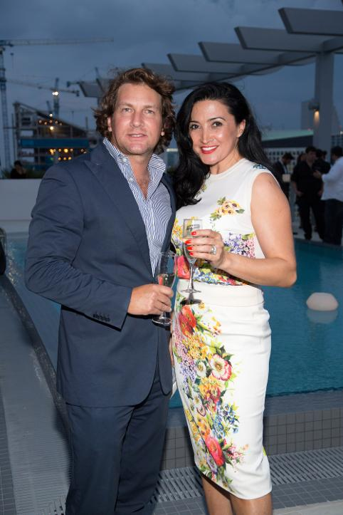 virgilio marino and silvia olivera at Pininfirina Millicento Rooftop Party in Miami